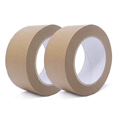 gws Papier-Paketband   umweltschonendes Klebeband   Verpackungsband von Hand reißbar   Packband in Profi-Qualität (2, braun)