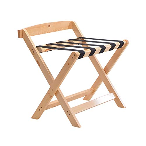 Why Should You Buy Folding Luggage Rack Folding Luggage Rack, Solid Wood Travel Suitcase Storage Hol...