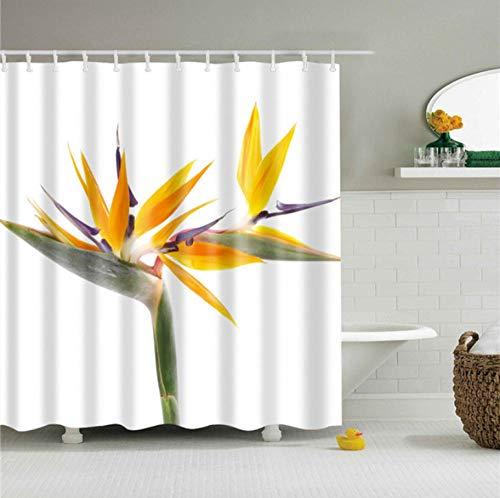 gexingshangdian Wasbare badkamer met haak gordijnen gordijn gordijnen badkamer polyester douchegordijn huisdecoratie bloemenprint