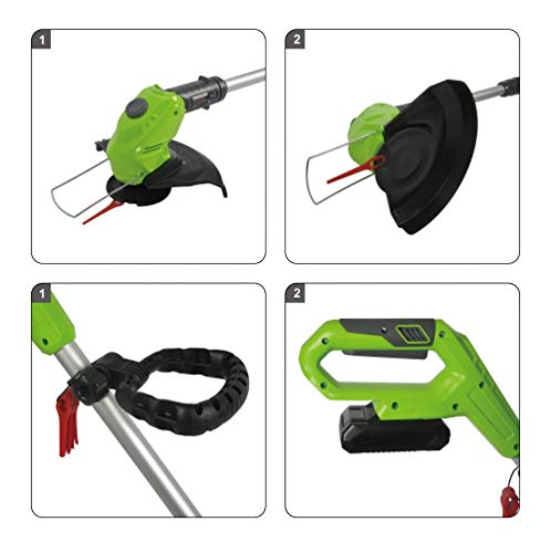 ToolTronix 20V Cordless Electric Grass Trimmer Strimmer Pruner Battery Included