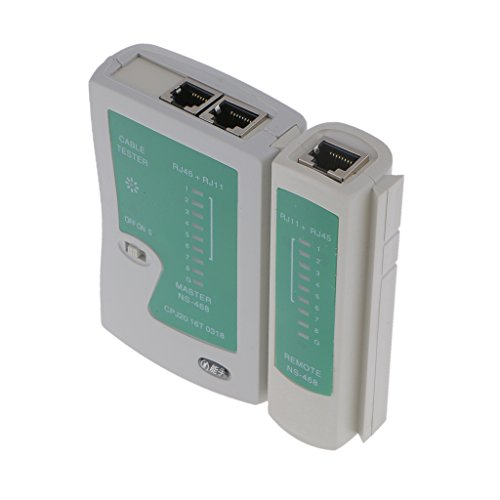 perfk RJ45 RJ11 CAT5 CAT 6 UTP Network Lan Phone Tester Cable Herramienta De Prueba PC