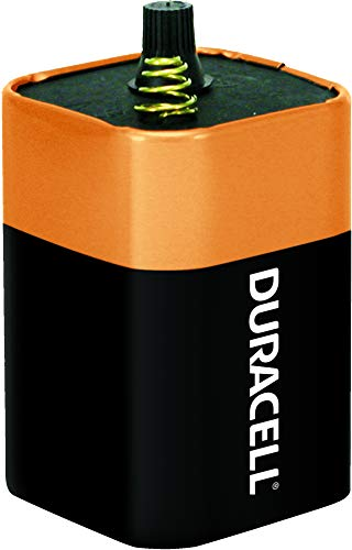 Duracell - CopperTop 6V 908 Alkaline Lantern Batteries with Spring Terminals - long lasting, 6 Volt battery for household and business - 1 count