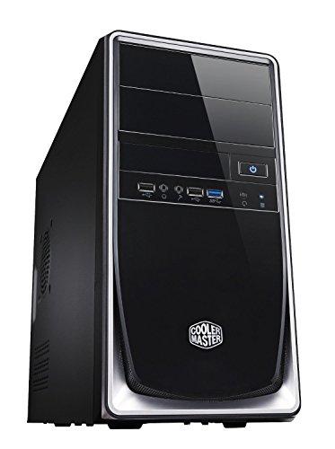 Cooler Master Elite 344 Silver PC-Gehäuse 'Micro-ATX, Mini-ITX, USB 3.0, Seitliches Lochgitter' RC-344-SKN2