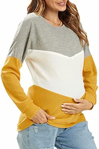 IFFEI Women's Maternity Nursing Tops Breastfeeding Tank Tee Shirt Long Sleeve Nursing Clothes
