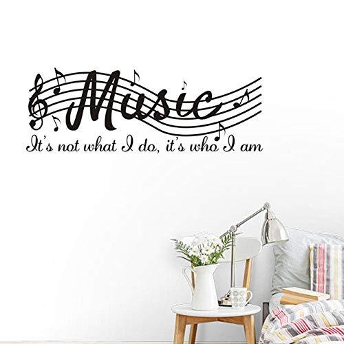 Pegatinas Dormitorio Sala de Es - Stave music piano aula decoración de la pared
