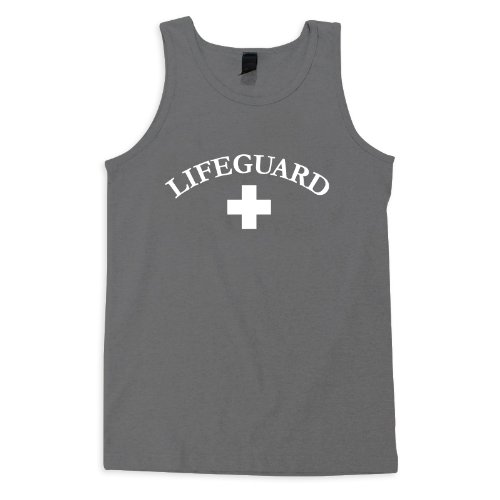 Check Out This VLX Lifeguard Tank Tee - LifeguardLogo,Dark Grey,M