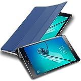 Cadorabo Tablet Hülle für Samsung Galaxy Tab S2 (8,0' Zoll) SM-T715N / T719N in Jersey DUNKEL BLAU – Ultra Dünne Book Style Schutzhülle mit Auto Wake Up und Standfunktion aus Kunstleder