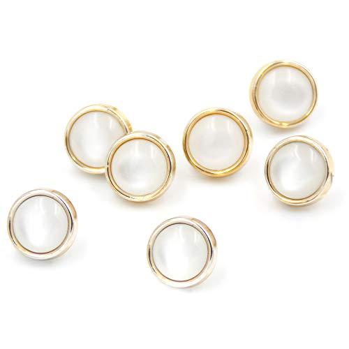 Anjing 20 botones de resina con forma de cúpula de perlas de imitación para coser manualidades de 10 mm