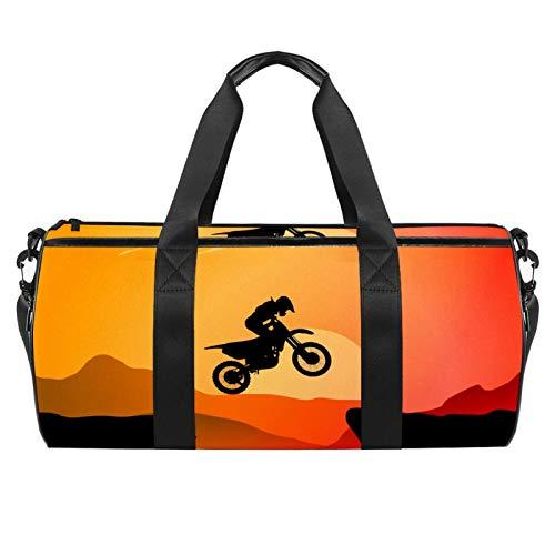 Xingruyun Sporttasche Kinder Motorrad Badetasche Gym Tasche schwimmtasche Schultertaschen Reisetasche Urlaubstasche klein Fitnesstasche Sport-Taschen für Mädchen Jungen 45x23x23cm