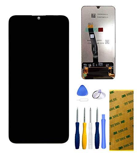 Xlhama LCD Touch Screen Schermo Nero per Huawei P Smart [2019] Strumenti di Riparazione di Ricambio Completamente Assemblati con Pellicola Vetro Temperato 3M Biadesivo