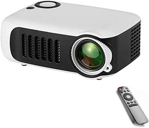 YUYANDE Mini proyector, Pantalla de 1080p y 100 '' Pantalla Compatible con Portátil, proyector portátil Compatible con TV Stick, PS4, HDMI, VGA, TF, AV y USB, con 40,000 hrs LED Life
