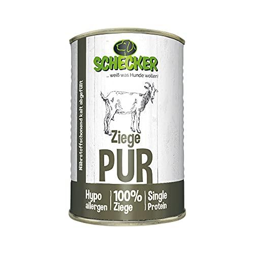 Schecker dogreform pur getreidefrei sans gluten de Chèvre de viandes et de précieux Viscères comme les poumons foie d'estomac sans füllstoffen Bon Marché comme soja, etc.