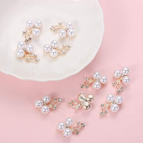 10 stücke Biene Blume Rhinestones Knöpfe Perlenknopf Hochzeit Dekor Legierung Kristall Metall Buttons Flatback DIY Handwerk Kleidung Nähen (Color : 4)