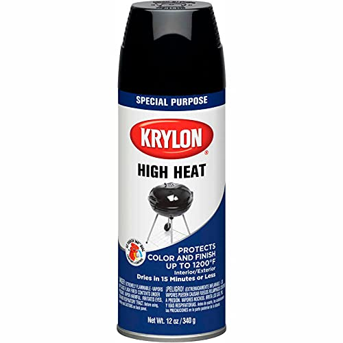 Krylon K01618 BBQ & Stove Black Spray Paint (Set of 6)