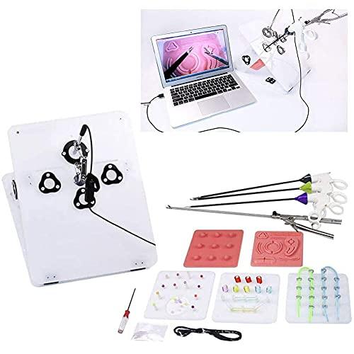 YRBDSA Caja de Entrenamiento para cirugía laparoscópica Estudiantes, médicos Enfermeros, Equipo quirúrgico simulado, for Doctor Medical Students Nurse Vet