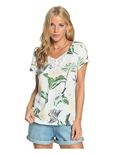 Roxy - Camisa de Viscosa con Manga Corta para Mujer