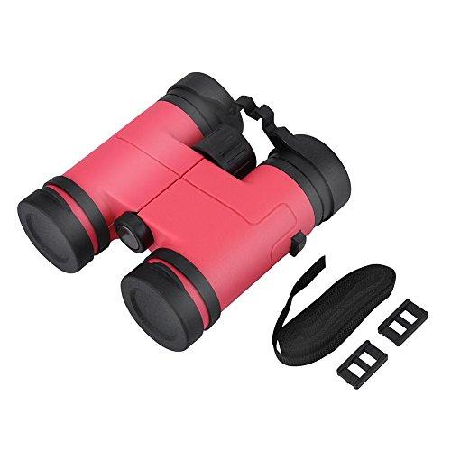 Dilwe Kind Fernglas, Mini Spielzeug Red Film Objektiv Fernglas Set mit Lanyard Schnallen für Wandern Vogel Safari(Rosa)