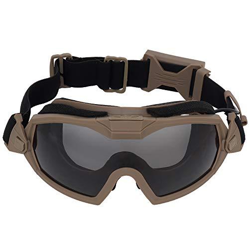 Lejie Gafas Airsoft, Gafas de Seguridad Tácticas Gafas Militares Antiniebla con Sistema de Ventilador para Paintball Montar Tiro Caza Ciclismo Motocicleta
