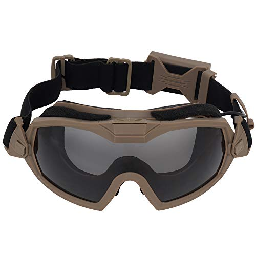 H World Shopping Fan Version Cooler Airsoft Glass Regulator Goggles Ski Snowboard Bike Sports DE