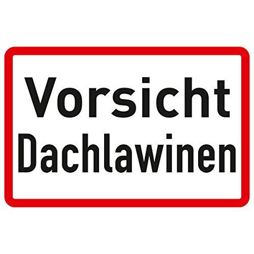 Betriebsausstattung24® Vorsicht Dachlawinen Hinweisschild für Gewerbe und Privat, Alu, 33x20 cm
