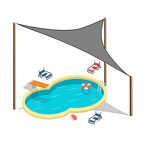 HRD 2X2X2m Toldo Vela de Sombra Triangular Respirable y Impermeable Toldo Vela con 3 Cuerdas para Piscina Pérgola Patio Trasero 3X3X3m