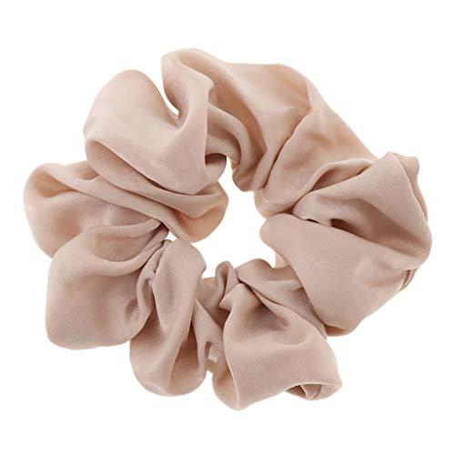 IPOTCH Damen Samt Scrunchies Haargummis Bobbles Gummibänder Haarbänder - Beige