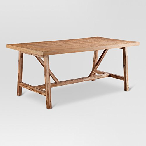 Wheaton Farmhouse Trestle 60u0022 Dining Table - Threshold™