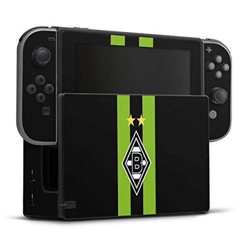 DeinDesign Skin kompatibel mit Nintendo Switch Folie Sticker Borussia Mönchengladbach Streifen Gladbach