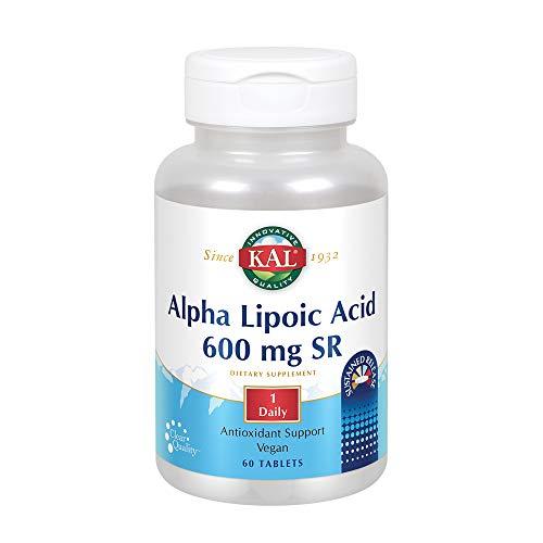 KAL Alpha Lipoic Acid SR Tablets, 600 mg, 60 Count