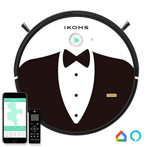 IKOHS netbot S15 - Robot aspirapolvere Professionale 4 in 1, Scopa, Aspira, Passa Il Panno E Lava, Adatto a Pavimenti e Tappeti, Ottimo per i Peli deg