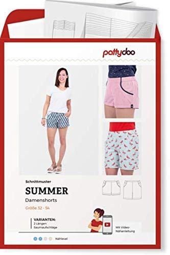 Schnittmuster Pattydoo Summer Damenshorts Damen Gr.32-54 Papierschnittmuster