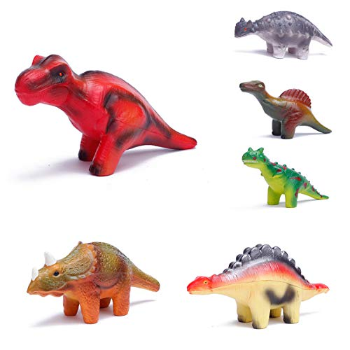 BELTI 6 Pieces Dinosaur Squishy Toys Set for Slow Rising Stress Relief Super Soft