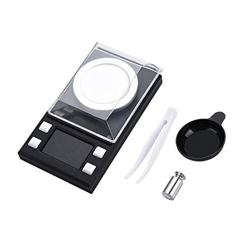 Hongzer Báscula Digital, portátil Mini LCD Escala electrónica Digital de Bolsillo Alta precisión 0.001g Joyas de Oro Peso(50g)