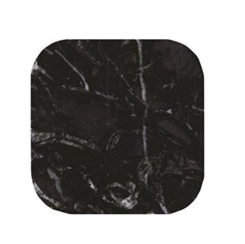 Zak! designs 1304-120 Osmos Dessous de verre, marbre Noir/Blanc