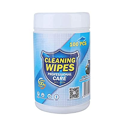 Bewinner 100PCS Disinfecting Wipes Screen Cleaning Wipes Portable Tablets Cleaning Wipes Notebook for Cleaning Computer Screens, Keyboards, CD, Phones from Bewinner