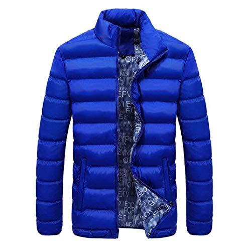 Doudoune Homme Longra Men Veste d'hiver Light Duenn Doudoune Veste Matelassée Veste Bomber Veste De Survêtement Veste De Sport Veste De Sport Men Down Jacket (Color : Sky Blue, Size : L)