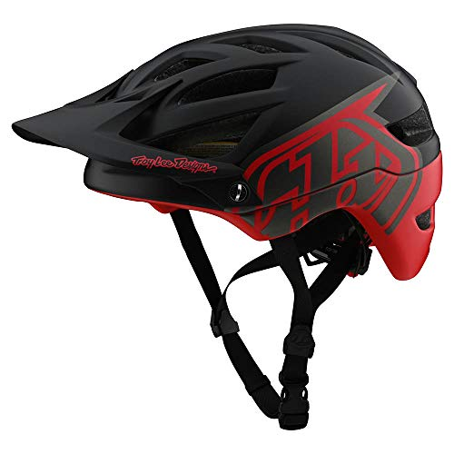 Troy Lee Designs Adult | Trail | All Mountain | Mountain Bike A1 MIPS Classic Helmet (XL/XXL, Black/Red)