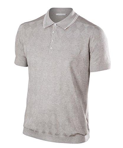 FALKE Herren Natural Golf Polo Poloshirt, Light Grey Mel, L
