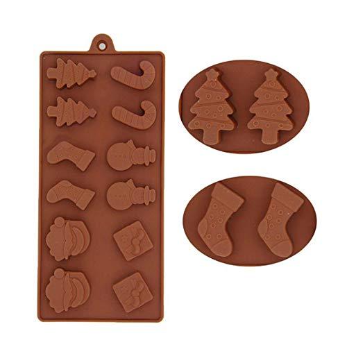 Alikeey Koekenaccessoire, voor kerst- en siliconenkoekjes, versierd met ijsvormig snoepjes-chocoladebakvorm, geschikt voor restaurants, gezinnen