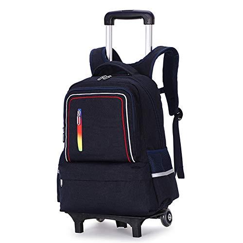 Hhyr Mochila multifunción con ruedas, 6 ruedas, mochila con ruedas, mochila ligera, extraíble, 30 x 20 x 42 cm, color, talla Tworounds