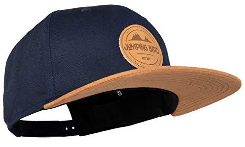 Jumping Bird Snapback Cap Unisex - Baseball Mütze Kappe one Size verstellbar Ozeanblau Mönch