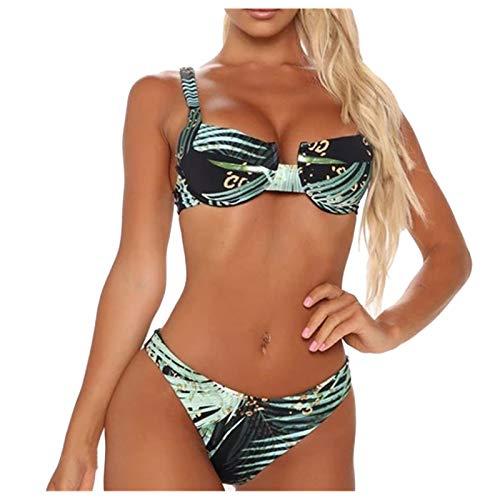 YANFANG Traje de baño de Verano Bikini de Dos Piezas para Mujer Traje de baño conciso Sexy Bañador, Ropa de baño, 1 Sujetador+1braga