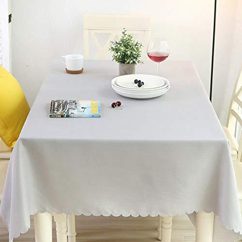 Kuingbhn Mantel para de Cocina Salón Rectangular Color Brillante Lavable Diseño de Comedor decoración del Hogar Gris 140 × 160cm