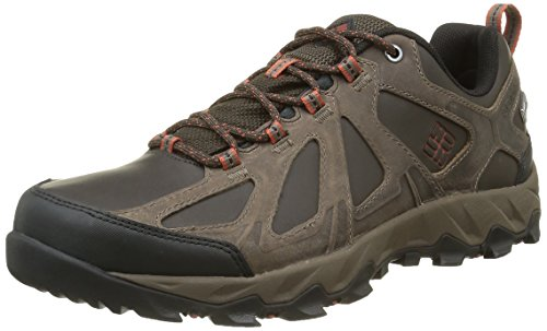 Columbia Homme Chaussures Multisport, Imperméable, PEAKFREAK XCRSN II LOW LEATHER OUTDRY, Taille 45, Brun (Cordovan, Sanguine)