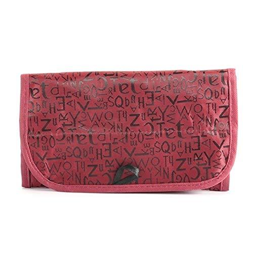 CDYEGSJ Viajes Esteticista Vanidad de Necessaries Mujeres Belleza Higiene compone el Kit de Maquillaje cosmético del Organizador del Bolso Bolsa de la Caja Monedero (Color : Red) 🔥