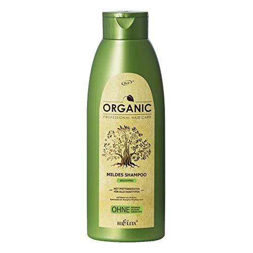 Belita ORGANIC Mildes sulfatfreies Shampoo mit Phytokeratin 500ml, OHNE Farbstoffe, OHNE Parabene, OHNE Silikone