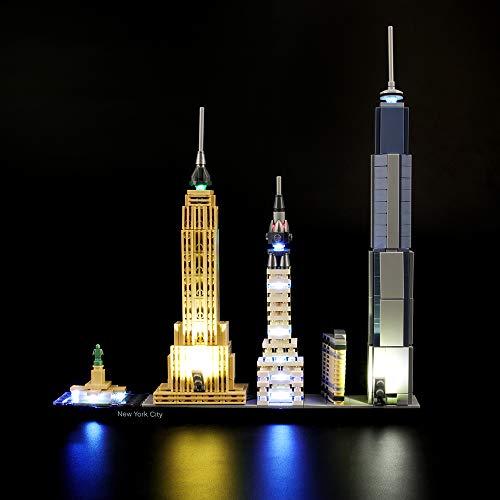 LIGHTAILING Conjunto de Luces (Architecture Ciudad de Nueva York) Modelo de Construcción de Bloques - Kit de luz LED Compatible con Lego 21028 (NO Incluido en el Modelo)