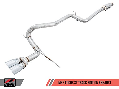 AWE Tuning d Focus ST Track Edition Cat-Back Exhaust - Chrome Silver Tips