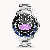 Vaxson 3 Stück 9H Panzerglasfolie kompatibel mit Fossil Hybrid Smartwatch Watch CASE Size FB-02, Panzerglas Schutzfolie Displayschutzfolie Bildschirmschutz