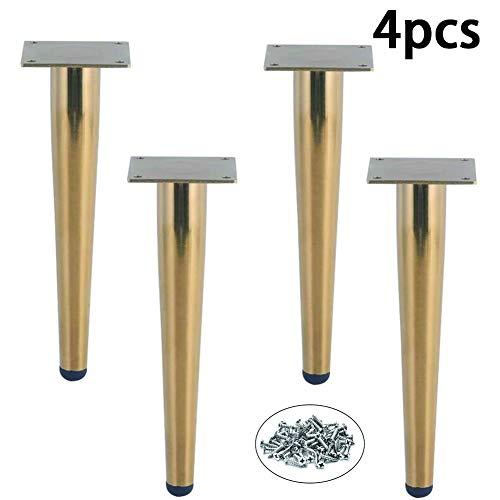 Meubels Voeten 4Pcs Met Electroplated Imitatie Gold 15Cm / 18Cm / 20Cm Meubels Benen Voor Koffietafel Feet TV Cabinet Sofa,Straight cone,15cm